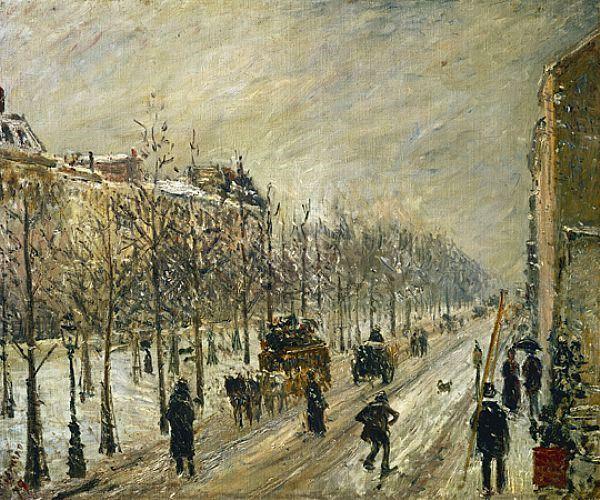 Pissarro, Les boulevards extérieurs. Effet de neige, 1879