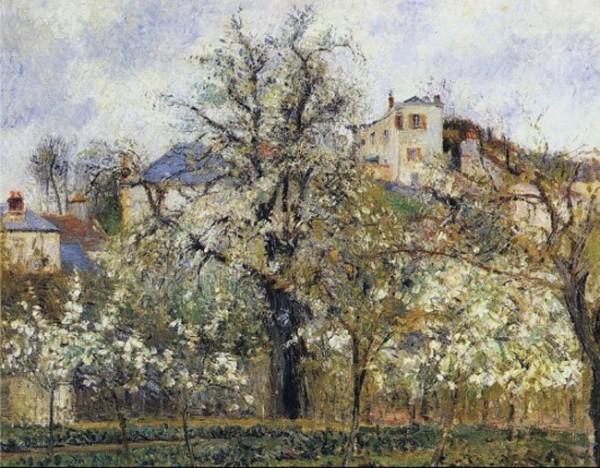 Pissarro, Printemps, pruniers en fleurs, Pontoise, 1877