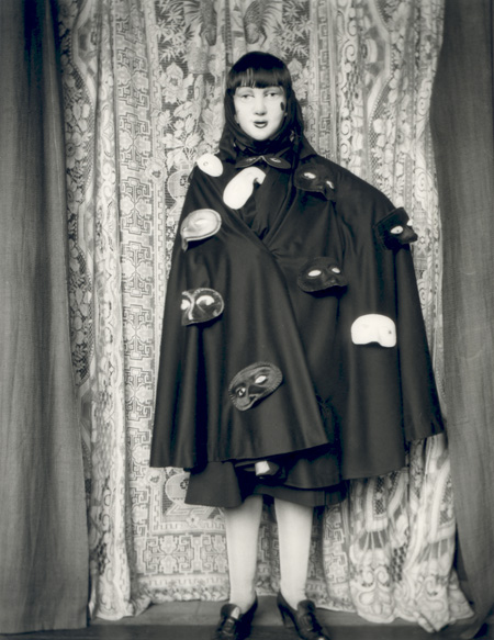 Claude Cahun, Self Portrait (in robes and masks), c. 1928