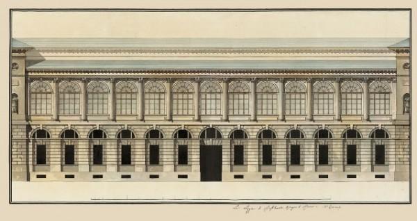 Giacomo Quarenghi, Prospetto delle Logge di Raffaello all'Ermitage, ultimo quarto del XVIII secolo