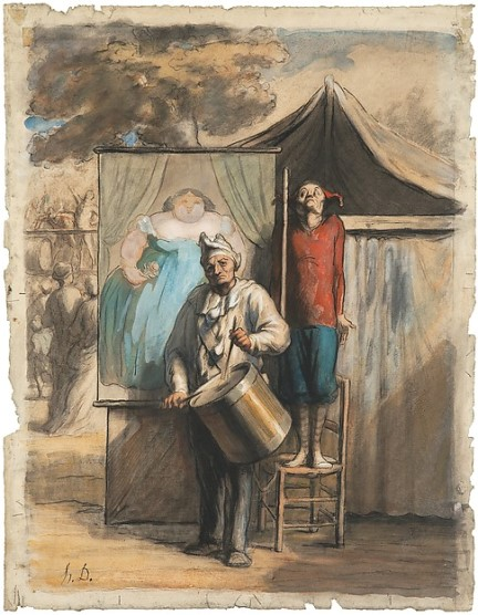 Daumier, Parade de saltimbanques, c. 1865-1866