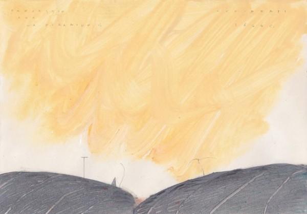 Pirro Cuniberti, Paesaggio con la piramide V., anni '80