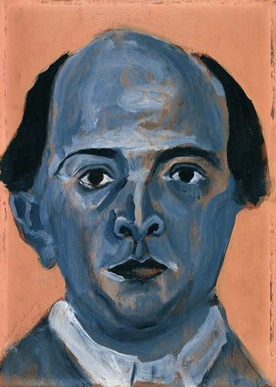 Schönberg, Autoritratto blu, 1910