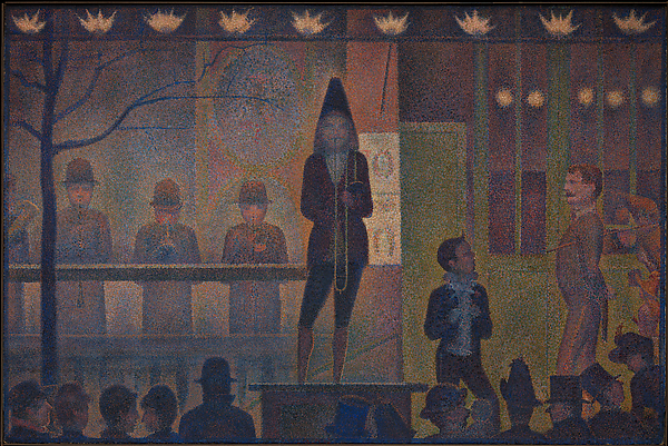 Seurat, Parade de cirque, 1887-1888