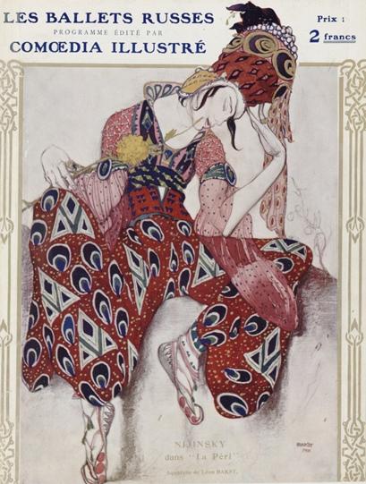 Bakst, Nijinsy dans La Péri, 1911