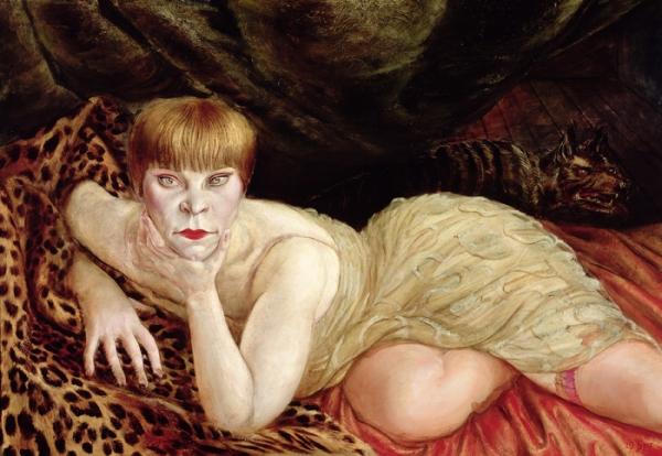 Otto Dix, Donna su pelle di leopardo, 1927