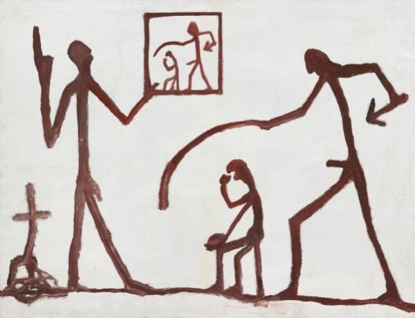 A.R.Penck, Ohne Titel (Gruppe), 1961