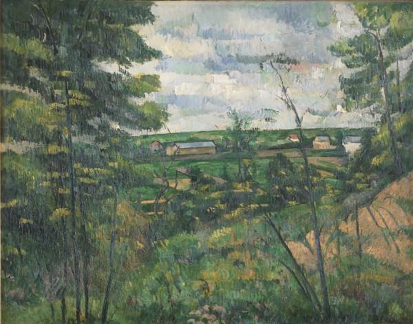 La Plaine de Saint-Ouen-l'Aumône vue prise de les carrières du Chou, c. 1880