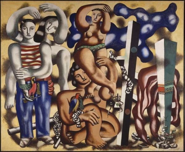 Léger, Composition aux deux perroquets, 1935-1939