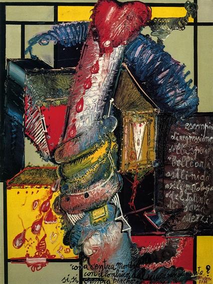Moreni, Cosa c'entra Mondrian con il lombrico dal cuore sanguinante? Si, si, c'entra perché non c'entra, 1986