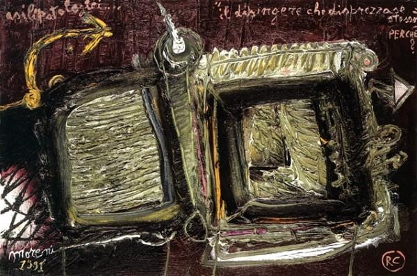 Moreni, Il dipingere che disprezza se stesso, 1991