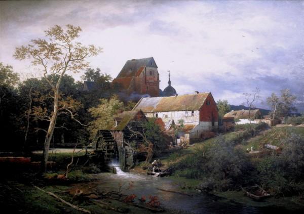 Andreas Achenbach, Erftmühle, 1834