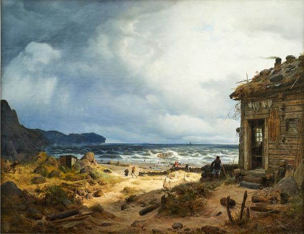 Andreas Achenbach, Küstenlandschaft, 1837
