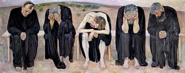 Ferdinand  Hodler, Die enttäuschten Seelen, 1892