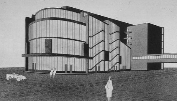 Gropius, Progetto di Total Theater di Piscator, 1927