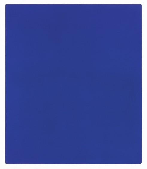 Klein, 1928-1962 Untitled blue monochrome, (IKB 79) 1959