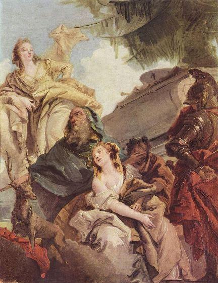 Tiepolo, Sacrificio di Ifigenia, 1757