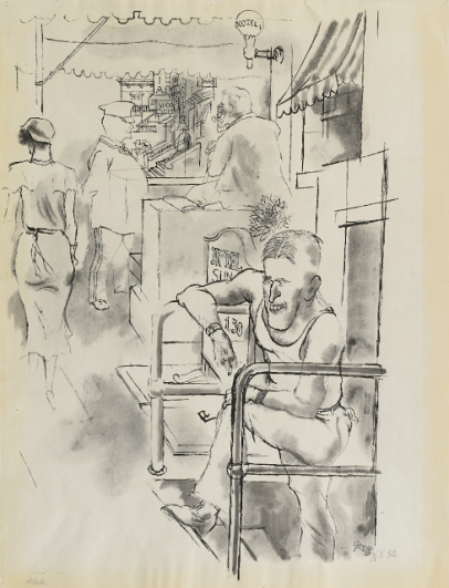 George Grosz, Street Scene, New York, 1932