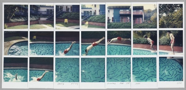 Hockney, Jerry diving sunday feb 28th 1982, 1982