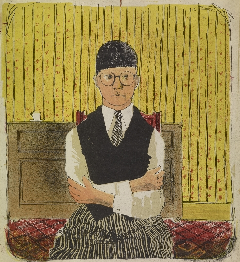 Hockney, Self portrait, 1954