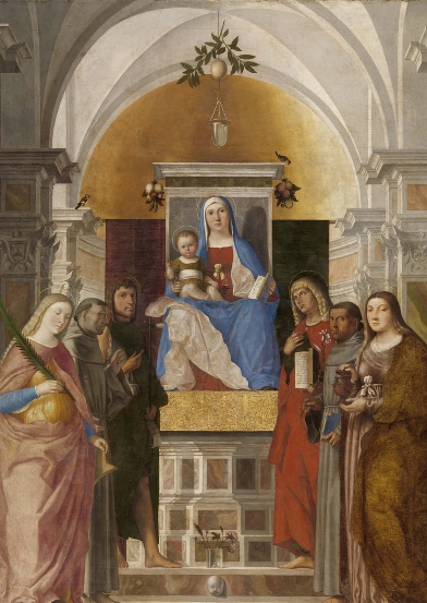Marcello Fogolino, Madonna in trono con Bambino  e santi, 1510-1520