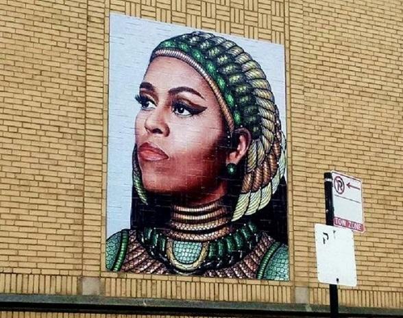 Murale con Michelle Obama, Chicago