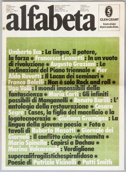 Alfabeta, I, 1, 1979