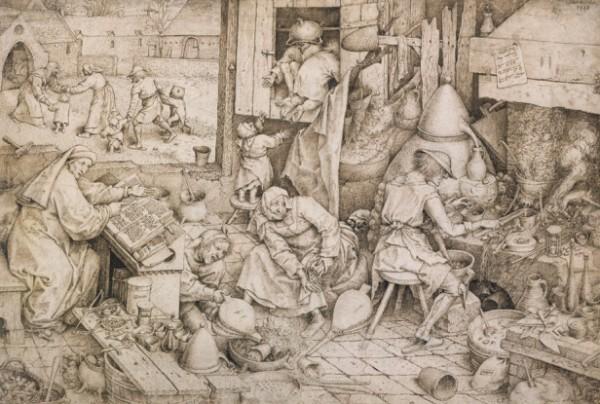 Bruegel d.A., L'alchimista, 1558