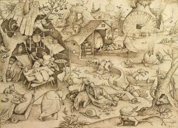 Bruegel d.A., Accidia, 1557