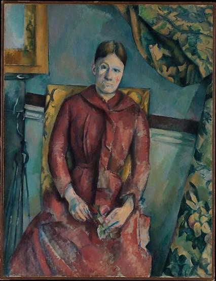 Cézanne, Madame Cézanne en robe rouge, 1888-1890
