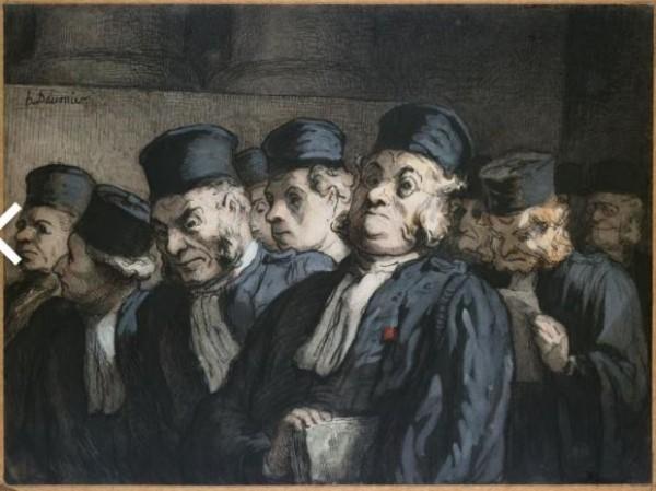 Daumier, Avvocati e giudici, prima dell'udienza (Gli avvocati), c. 1862