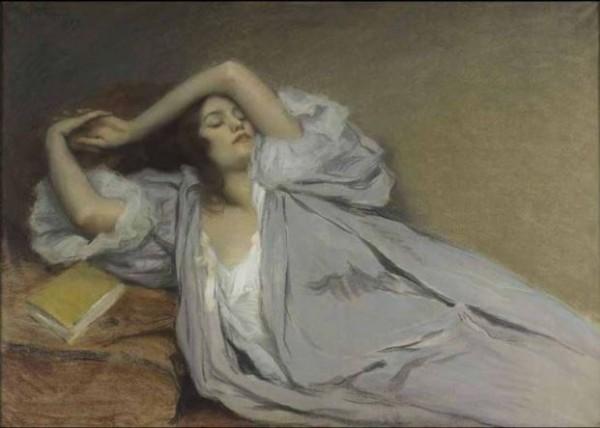 Prouvé, Femme étendue sur un divan, 1899
