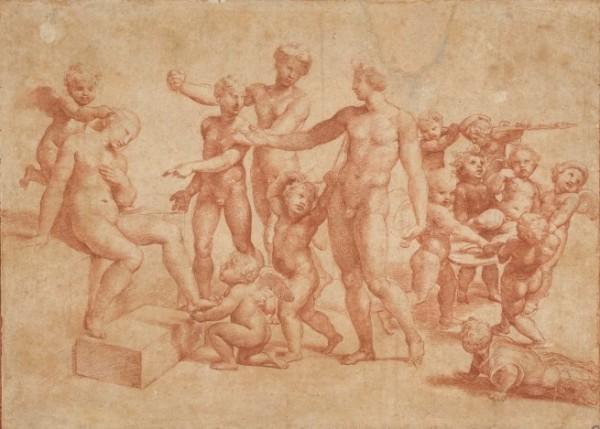 Raffaello, Nozze di Alessandro e Rossane, c. 1517