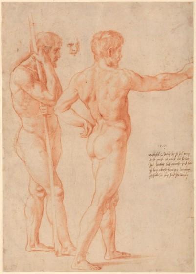 Raffaello, Due studi di nudo, 1515