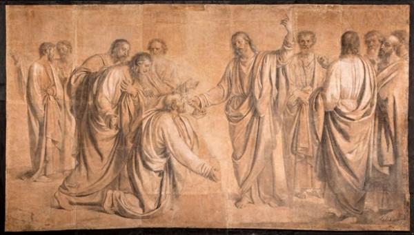 Diotti, Gesù consegna le chiavi a san Pietro, 1834