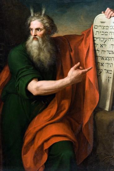Diotti, Mosè presenta le tavole della legge,1808