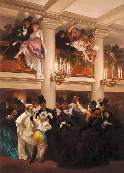 Eugène Giraud, Le bal de l'Opéra, 1866