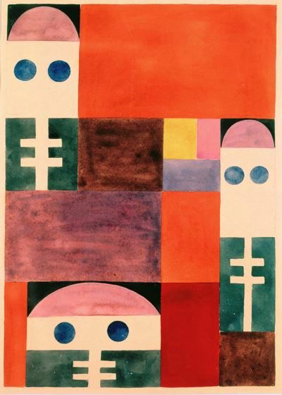 Taeuber-Arp, Motifs abstraits (masques), 1917