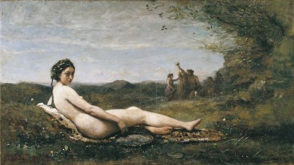 Corot, Bacchante au tambourin, c. 1860-1870