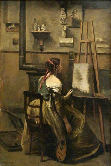 Corot, L'atelier de Corot, c. 1873