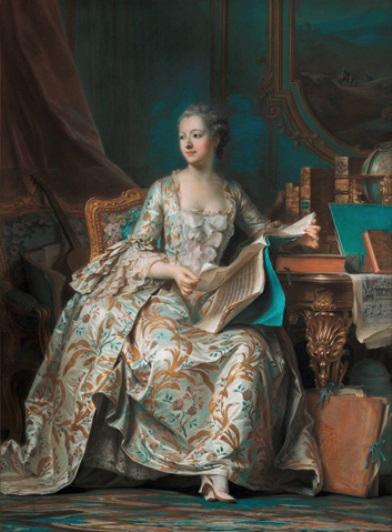 Delatour, Le portrait de la marquise de Pompadour, 1757