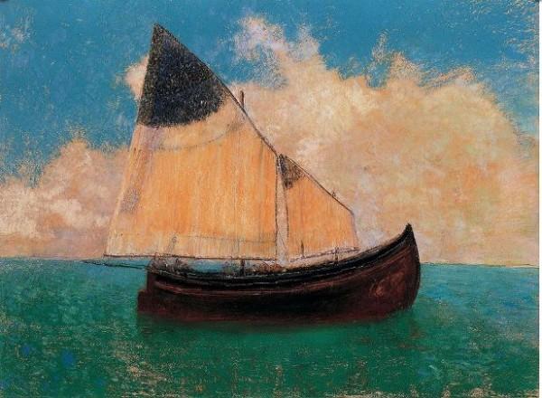 Redon, A la dérive (La barque), 1906