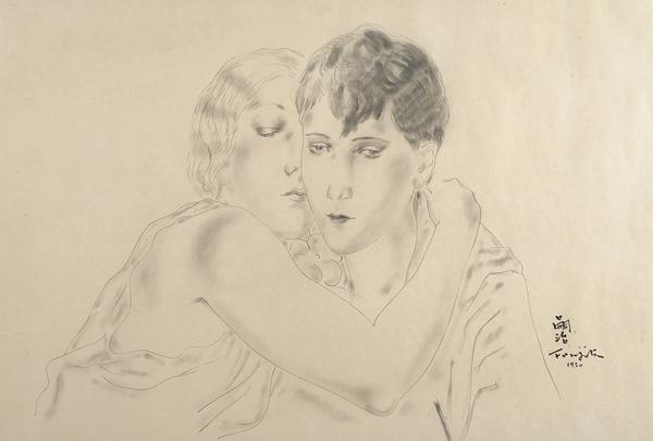 Foujita, Les deux amies, 1930