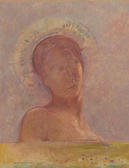 Odilon Redon, Yeux clos, 1889