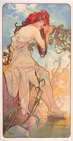 Mucha, Les Saisons, l'été, 1896