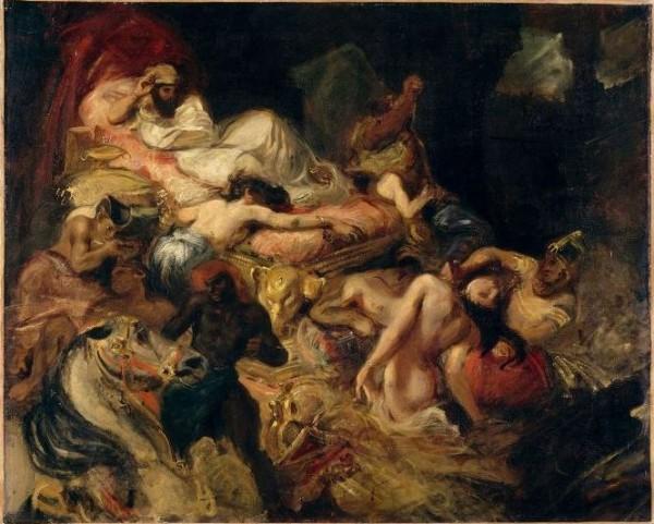Delacroix, Morte di Sardanapalo, studio, 1826-1827