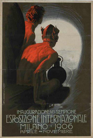 Leopoldo Metlicovitz Inaugurazione Sempione - Esposizione Internazionale Milano, 1906