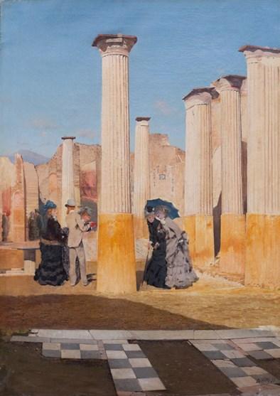 De Nittis, Il foro di Pompei, 1875