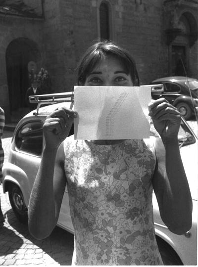 Franco Vaccari, Biljana Tomić + poesia concreta, Parole sui muri, Fiumalbo 1968