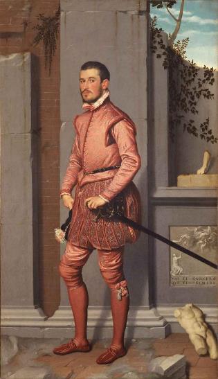 iovanni Battista Moroni, Il Cavaliere in rosa, 1560